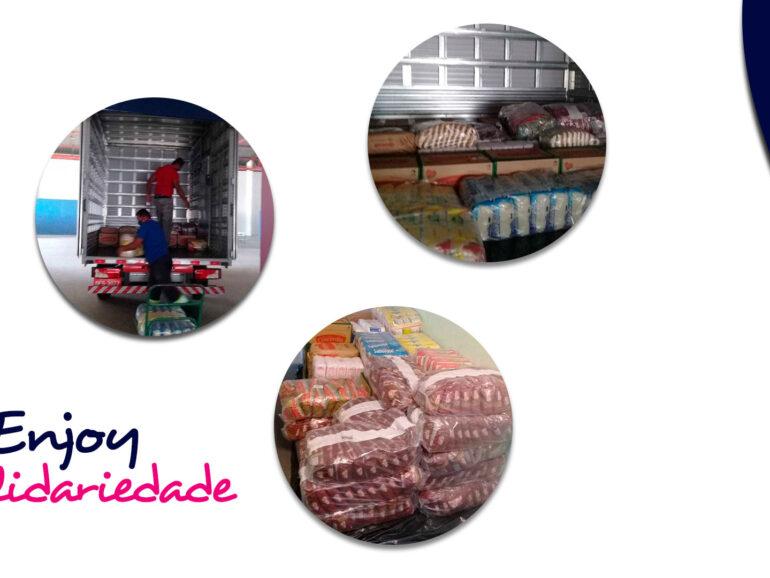 Instituto Enjoy Recebe Doação de Alimentos